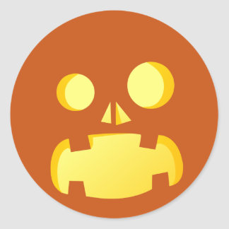 Evil Jack-o'-lantern faces - Happy Halloween! Classic Round Sticker
