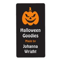 Evil Jack o lantern Halloween kitchen label Shipping Label