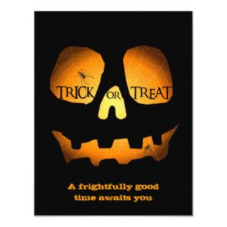 Evil Jack O Lantern Halloween Party Card
