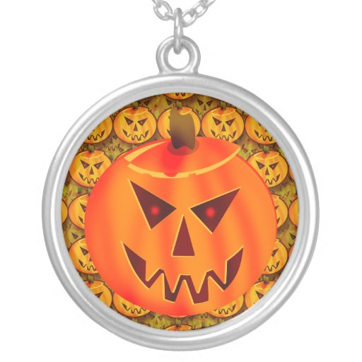 Evil Jack O' Lantern Necklace