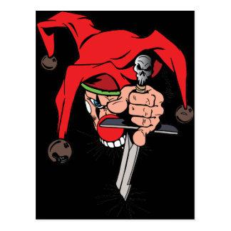 Evil Jester Postcard