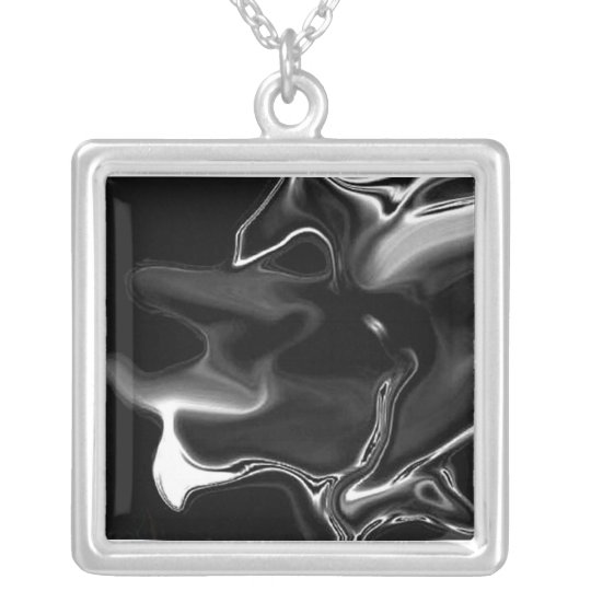 Evil Jester Silver Plated Necklace