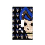 Evil Jester Skull (Blue) Light Switch Plate
