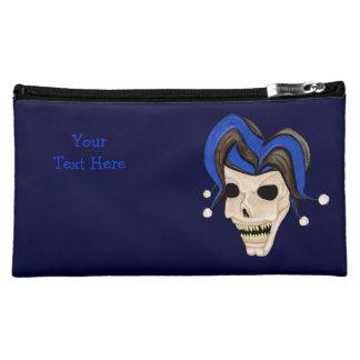 Evil Jester Skull Cosmetic Bag