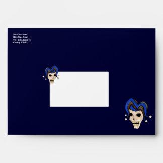 Evil Jester Skull Envelope