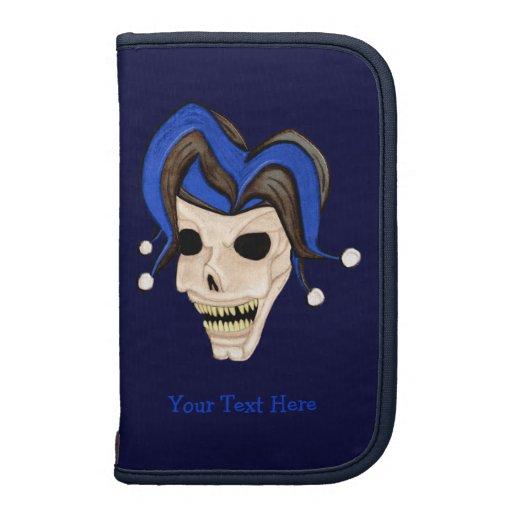 Evil Jester Skull Folio Planner