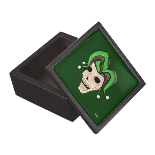 Evil Jester Skull (Green) Gift Box
