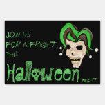 Evil Jester Skull (Green) Halloween Signs