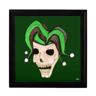 Evil Jester Skull (Green) Jewelry Box