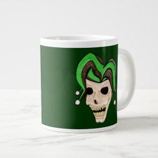 Evil Jester Skull (Green) Jumbo Mugs