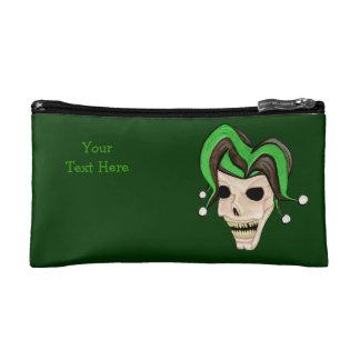 Evil Jester Skull (Green) Makeup Bag