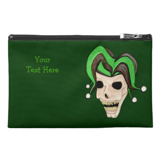 Evil Jester Skull (Green) Travel Accessories Bags