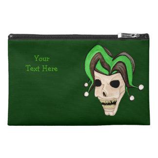 Evil Jester Skull (Green) Travel Accessory Bag