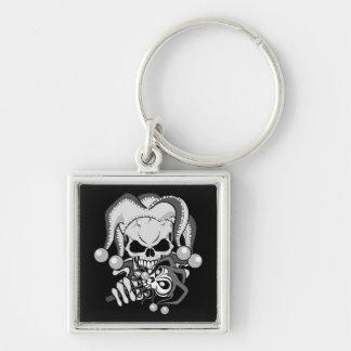 Evil Jester Skull Keychain