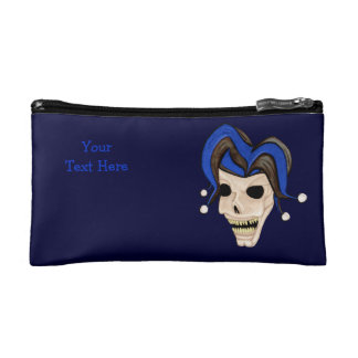 Evil Jester Skull Makeup Bag