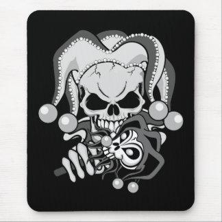 Evil Jester Skull Mouse Pad