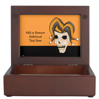 Evil Jester Skull (Orange) (Halloween) Memory Box