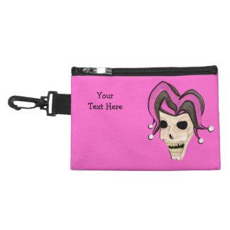 Evil Jester Skull (Pink) Accessory Bag