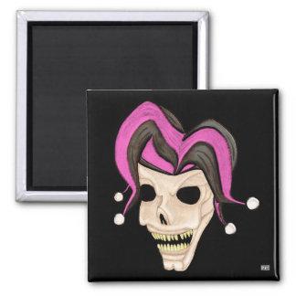 Evil Jester Skull (Pink) Magnet