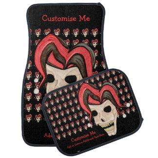 Evil Jester Skull (Red) Car Floor Mat