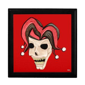 Evil Jester Skull (Red) Jewelry Box
