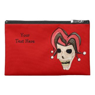 Evil Jester Skull (Red) Travel Accessories Bag