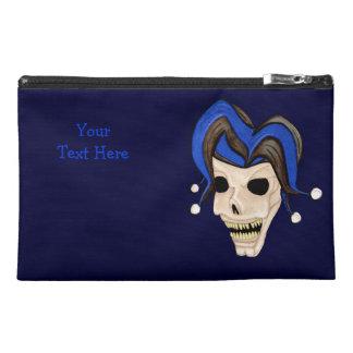 Evil Jester Skull Travel Accessories Bag