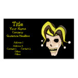 Evil Jester Skull (Yellow) Business Cards