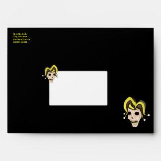Evil Jester Skull (Yellow) Envelope