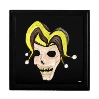 Evil Jester Skull (Yellow) Gift Box