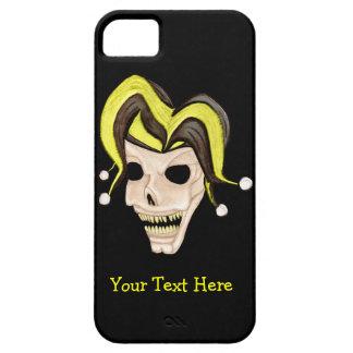 Evil Jester Skull (Yellow) iPhone SE/5/5s Case
