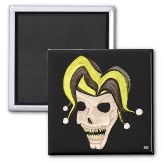 Evil Jester Skull (Yellow) Magnet