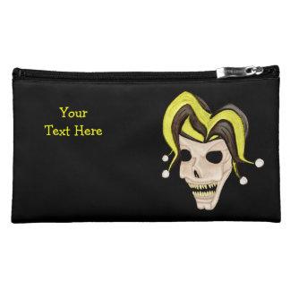 Evil Jester Skull (Yellow) Makeup Bag