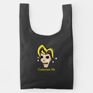 Evil Jester Skull (Yellow) Reusable Bag