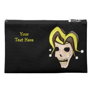 Evil Jester Skull (Yellow) Travel Accessory Bag
