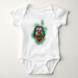 Evil Joker Clown Face Baby Bodysuit