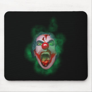 Evil Joker Clown Face Mouse Pad
