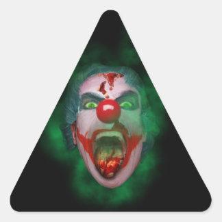 Evil Joker Clown Face Triangle Sticker