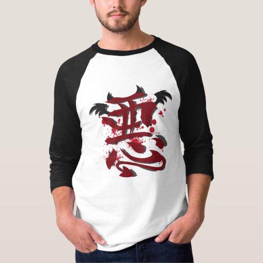 "Evil Kanji Men's 3/4"" Raglan Shirt"