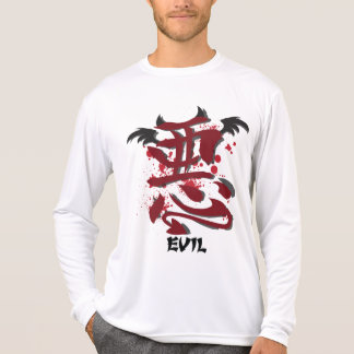 Evil Kanji Men's Micro Fiber Long Sleeve Shirt