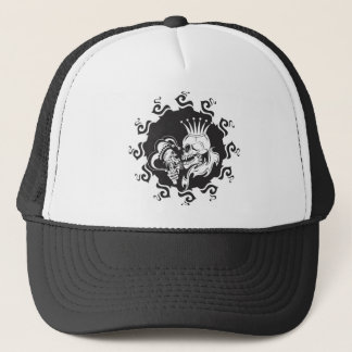 Evil King Skull Trucker Hat