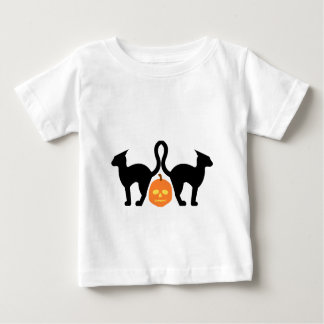 Evil Kitties & the Skull-O-Lantern Baby T-Shirt