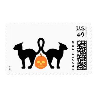 Evil Kitties & the Skull-O-Lantern Postage Stamps