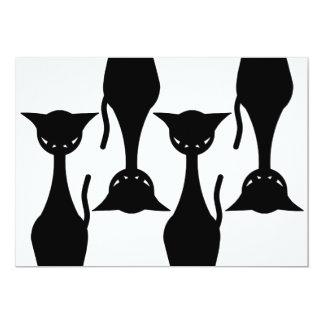 "Evil Kitty Black Wallpaper Invitation 5"" X 7"" Invitation Card"