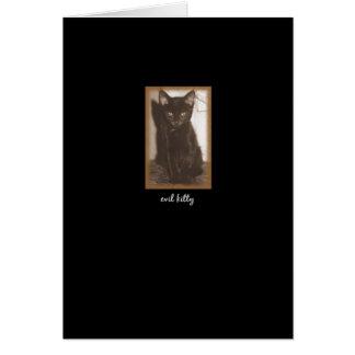 """""""Evil Kitty""""  Card"""