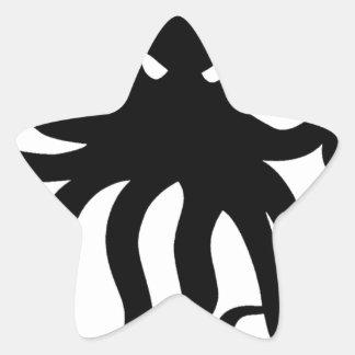 Evil kraken star sticker