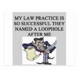 evil lawyer joke postcard