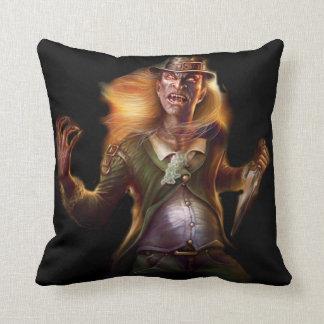 Evil Leprechaun Throw Pillow