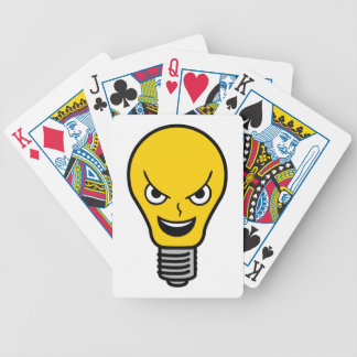 Evil Lightbulb Bicycle Playing Cards