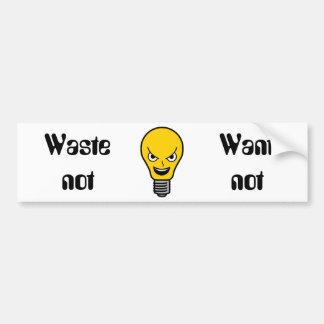 Evil Lightbulb Bumper Sticker